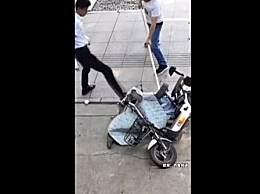 男子当街持刀伤人路边店主挺身而出