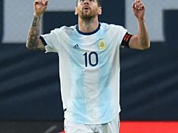 梅西打进第71粒国家队进球!阿根廷国家队1-0厄瓜多尔