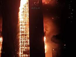 33层高楼烧成火柱
