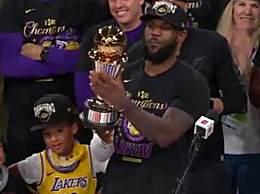 詹姆斯荣获2020总决赛MVP