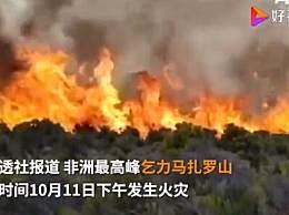 非洲最高峰发生大火