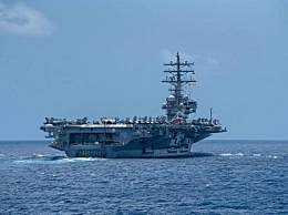 美国里根号航母现身南海