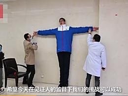 14岁男孩身高2.21米挑战吉尼斯纪录