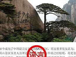 黄山风景区辟谣迎客松为塑料树