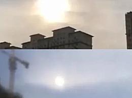 石家庄上空现2个太阳