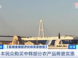 日本将对中韩约五成农产品撤销关税