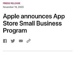 苹果降低App Store抽成至15%