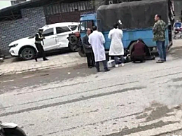 桂林全州老人被拖拉机撞倒碾死