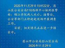 川大锦江学院2人死亡 涉及刑案