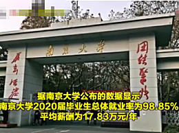 南京大学毕业生平均年薪近18万