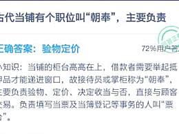 """古代当铺有个职位叫""""朝奉"""",主要负责"""