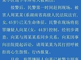 最高法对湖南女法官遇刺发声