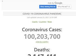 全球新冠肺炎病例已超一亿