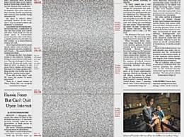 纽约时报用50万个黑点纪念新冠死者
