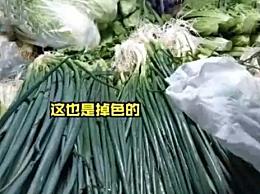 全国多地菜市出现掉色香葱