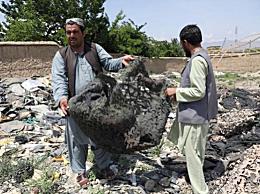 美军撤离阿富汗时将武器拆成碎片