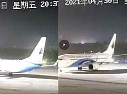 江苏14级大风吹动飞机掉头