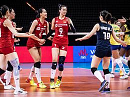 张常宁36分 中国女排3-2力挫巴西